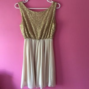 Lulu's Gold Formal Dress